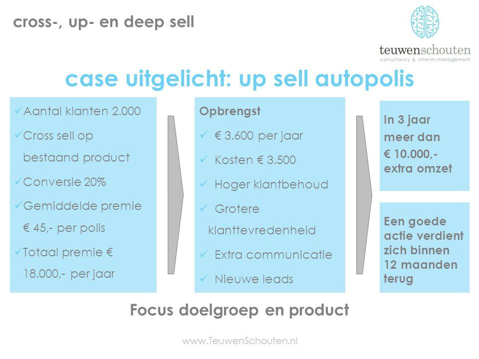 case uitgelicht: up sell autopolis Focus doelgroep en product