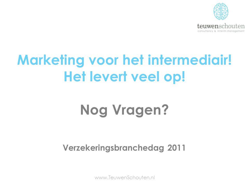 Marketing voor het intermediair! Het levert veel op! Nog Vragen