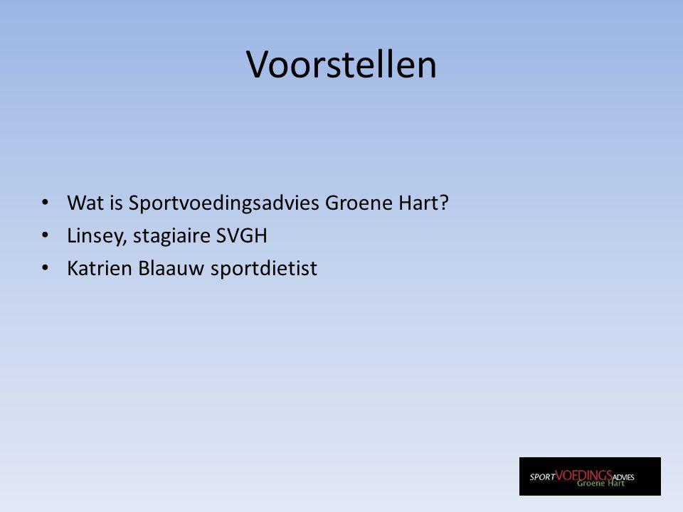 Voorstellen Wat is Sportvoedingsadvies Groene Hart