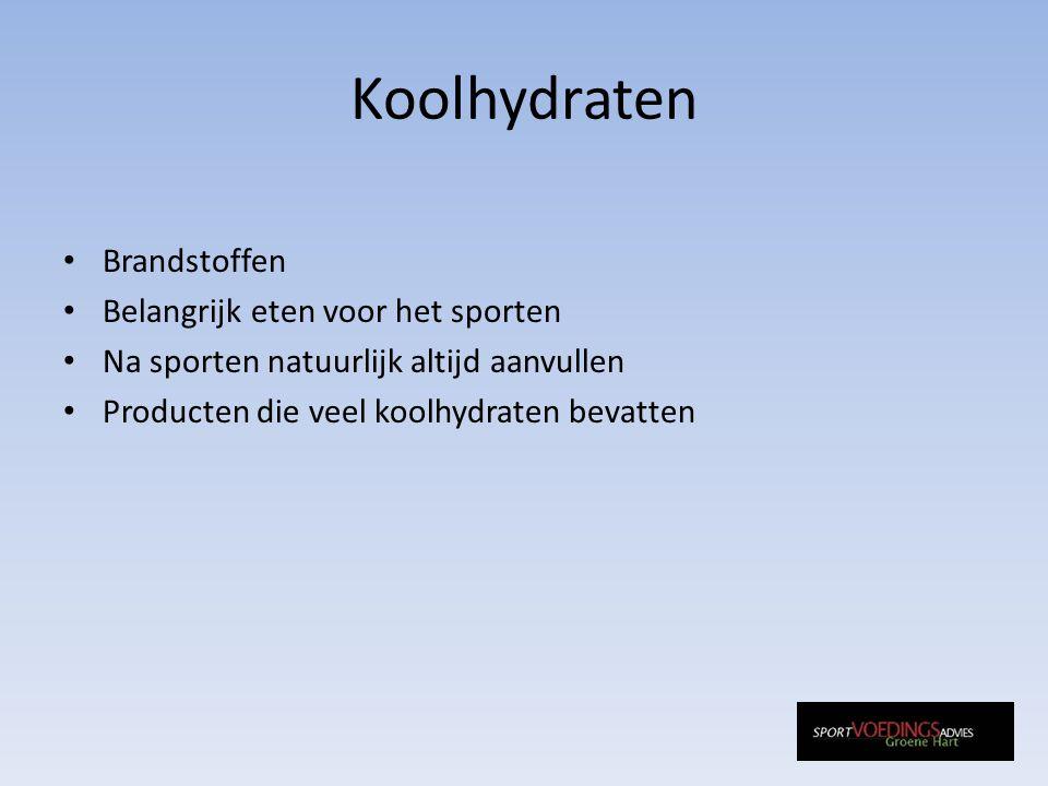 Koolhydraten Brandstoffen Belangrijk eten voor het sporten