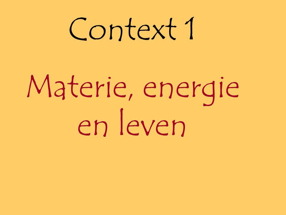 Materie, energie en leven