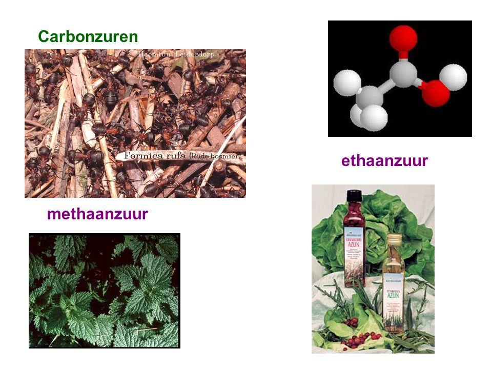 Carbonzuren ethaanzuur methaanzuur