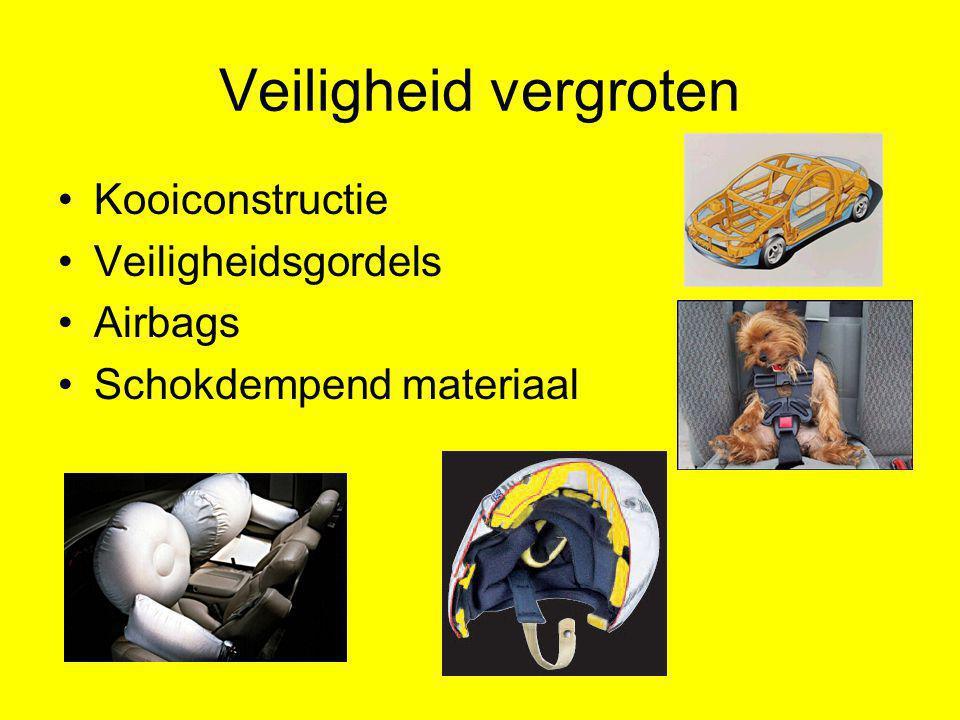 Veiligheid vergroten Kooiconstructie Veiligheidsgordels Airbags