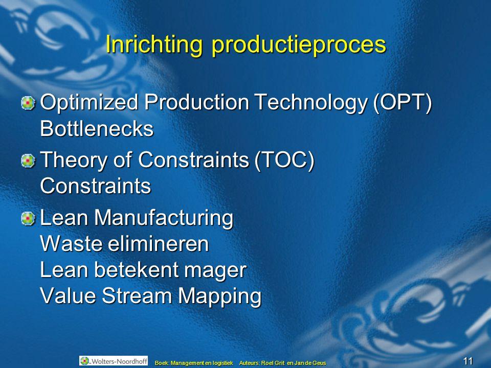 Inrichting productieproces