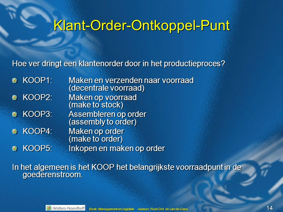 Klant-Order-Ontkoppel-Punt