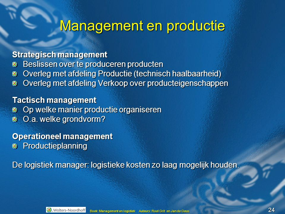 Management en productie