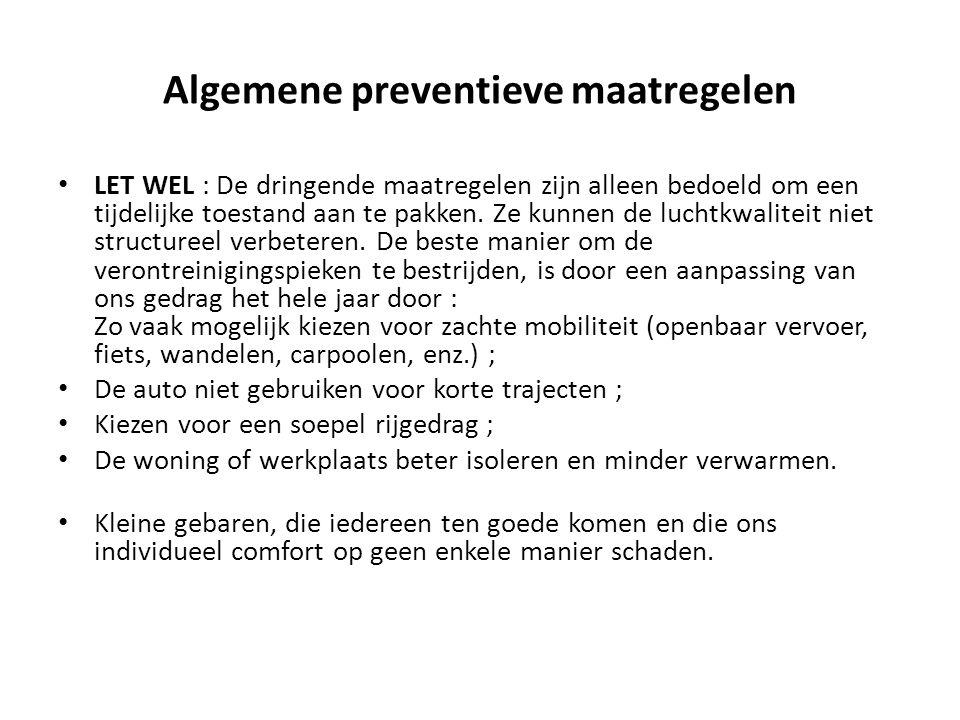 Algemene preventieve maatregelen
