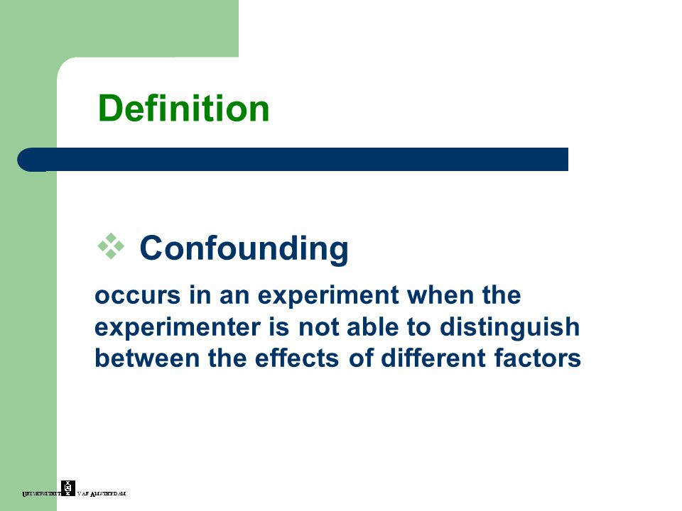 Definition Confounding