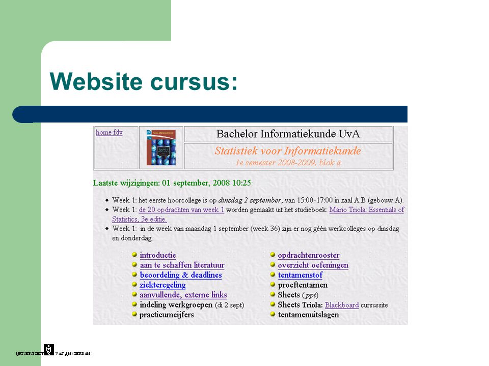 Website cursus: