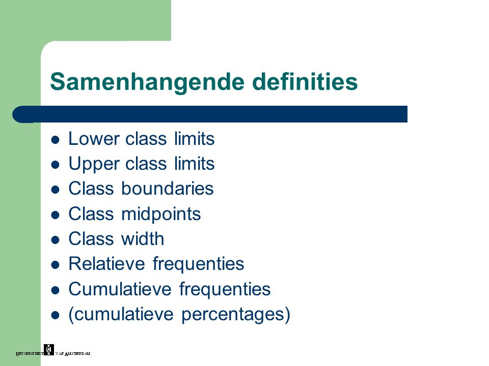 Samenhangende definities