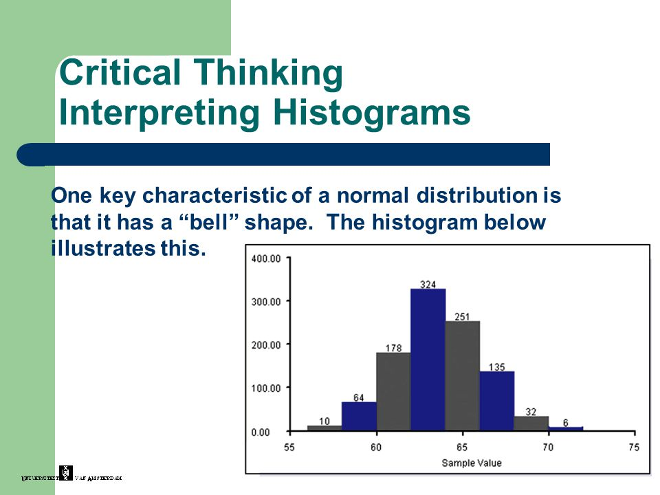 Critical Thinking Interpreting Histograms