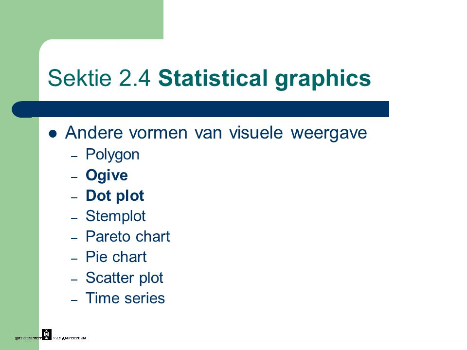 Sektie 2.4 Statistical graphics