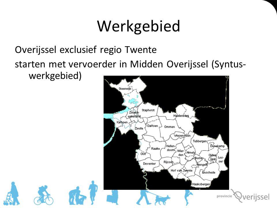 Werkgebied Overijssel exclusief regio Twente