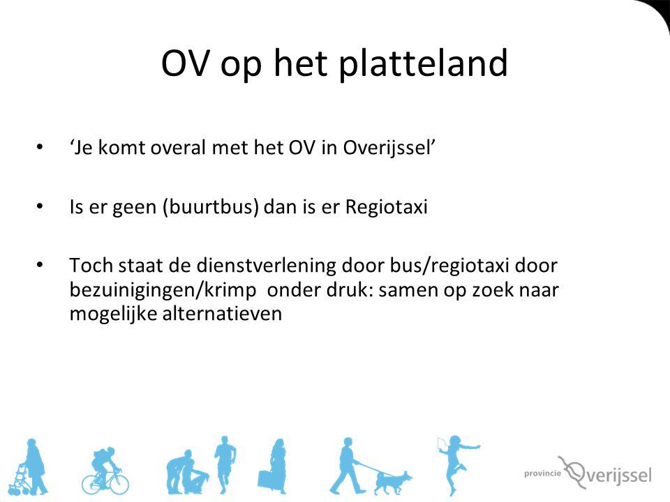 OV op het platteland 'Je komt overal met het OV in Overijssel'
