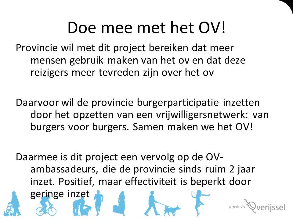 Doe mee met het OV!