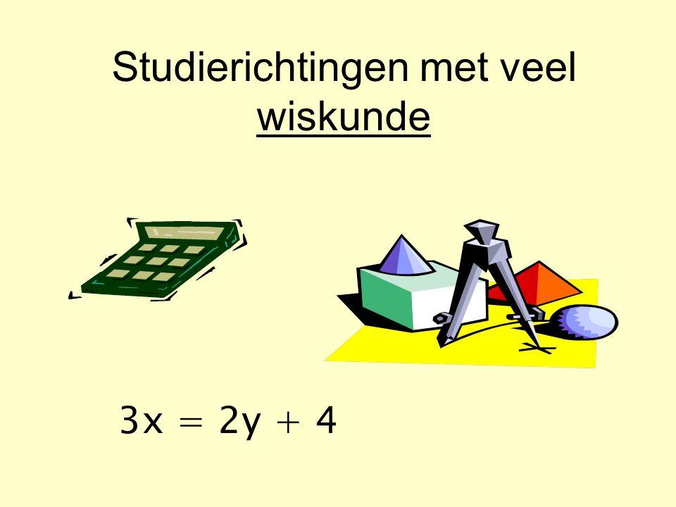 Studierichtingen met veel wiskunde