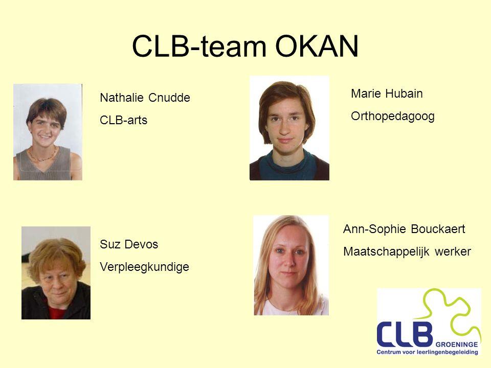CLB-team OKAN Marie Hubain Nathalie Cnudde Orthopedagoog CLB-arts