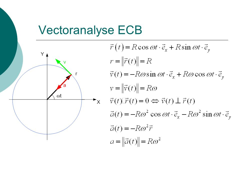 Vectoranalyse ECB