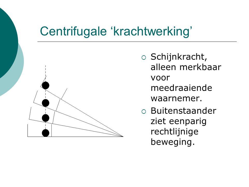Centrifugale 'krachtwerking'