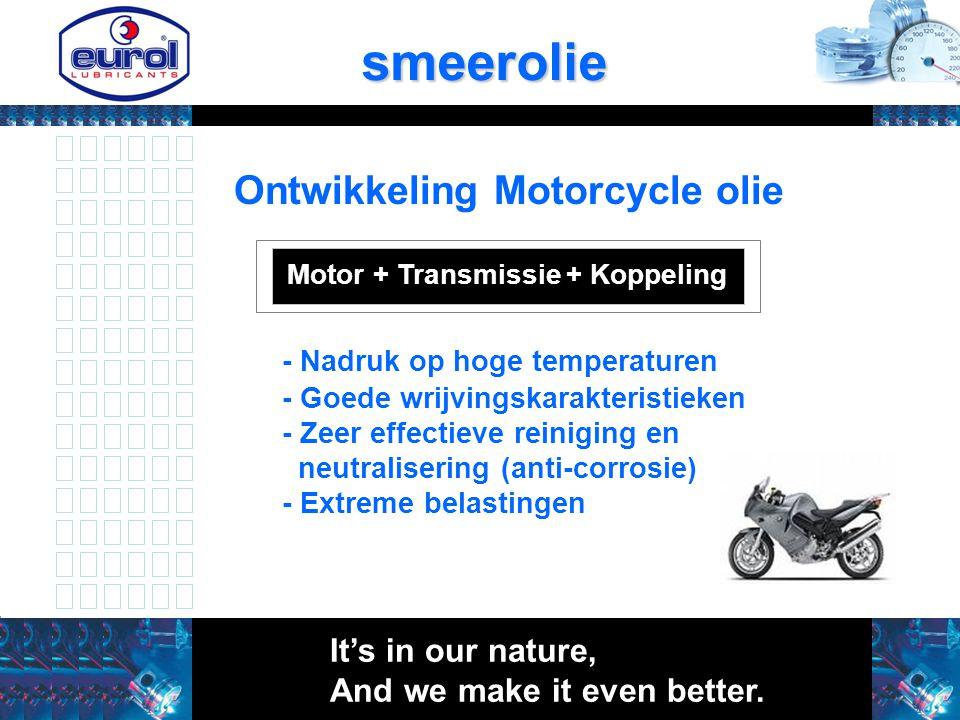 smeerolie Ontwikkeling Motorcycle olie - Nadruk op hoge temperaturen