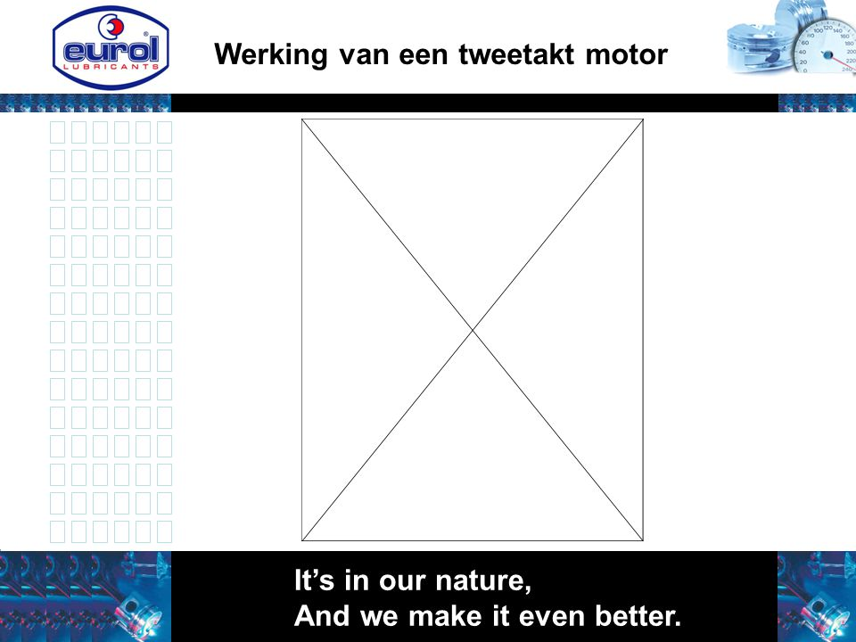 It's in our nature, And we make it even better. Werking van een tweetakt motor
