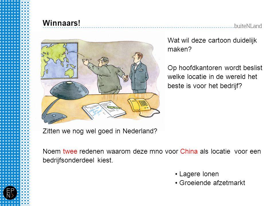 Winnaars! Wat wil deze cartoon duidelijk maken
