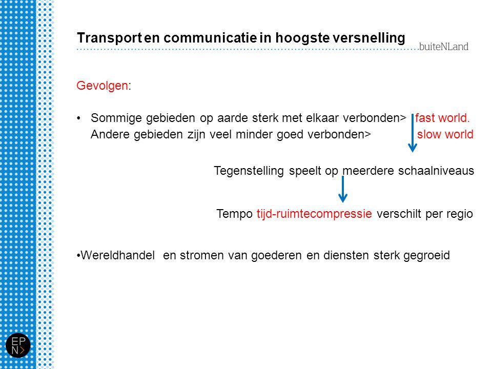 Transport en communicatie in hoogste versnelling
