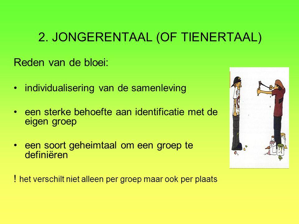 2. JONGERENTAAL (OF TIENERTAAL)