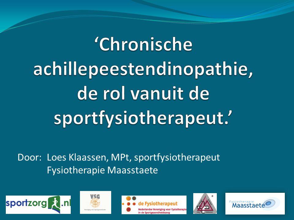 Door: Loes Klaassen, MPt, sportfysiotherapeut Fysiotherapie Maasstaete
