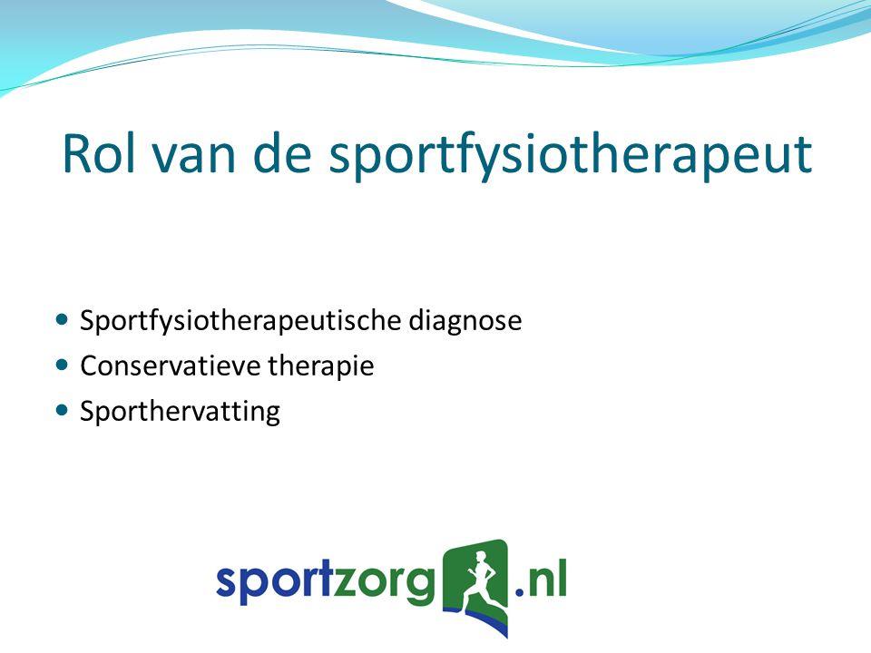 Rol van de sportfysiotherapeut