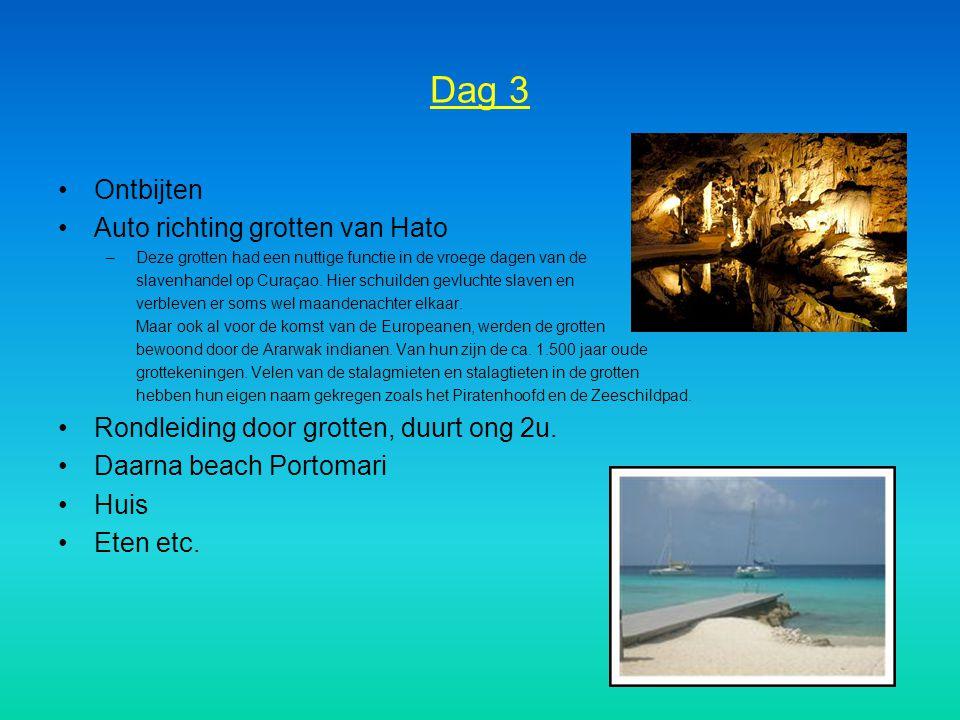 Dag 3 Ontbijten Auto richting grotten van Hato