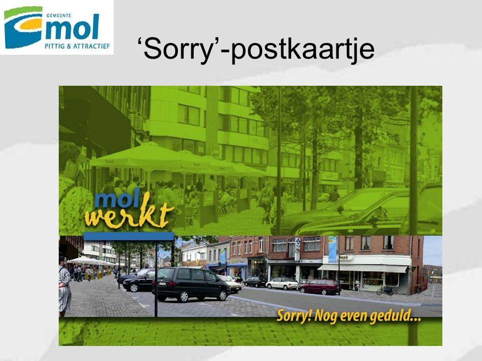 'Sorry'-postkaartje