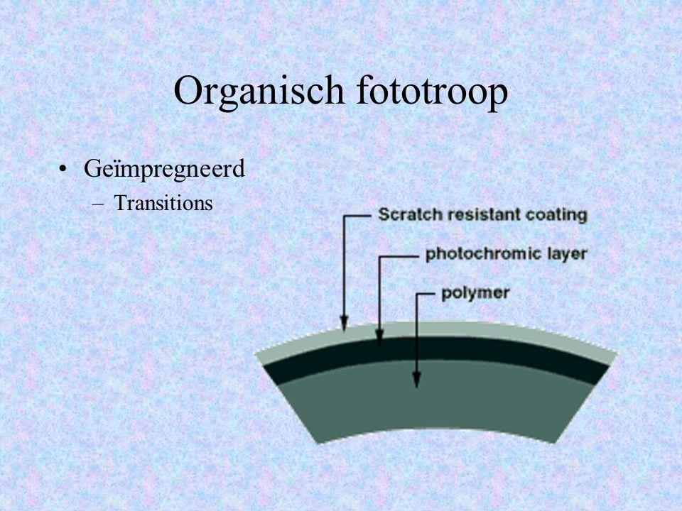Organisch fototroop Geïmpregneerd Transitions