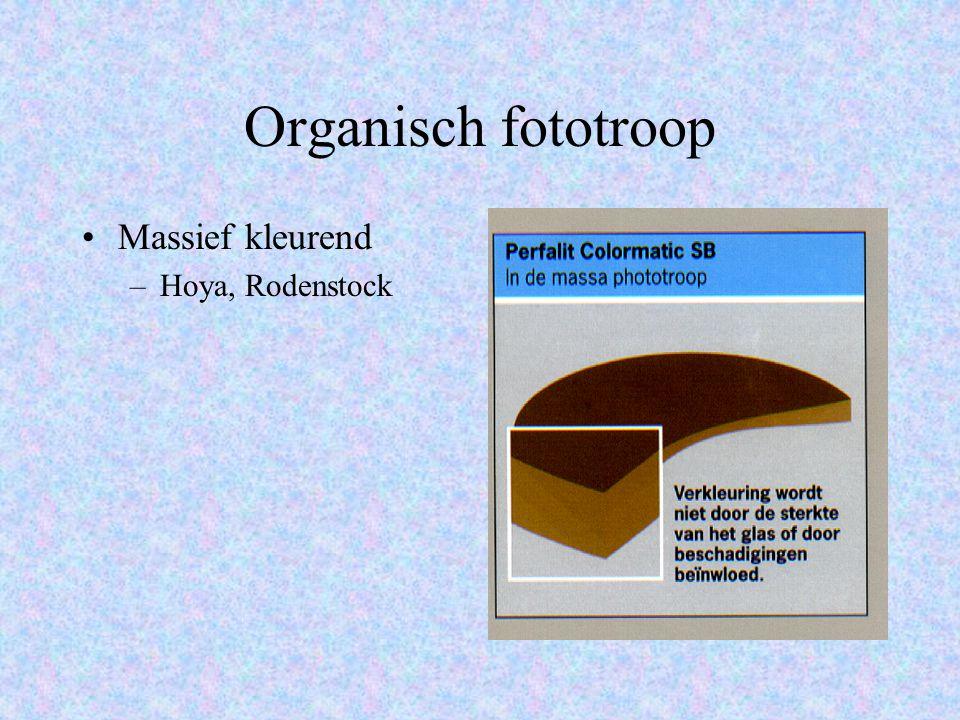 Organisch fototroop Massief kleurend Hoya, Rodenstock