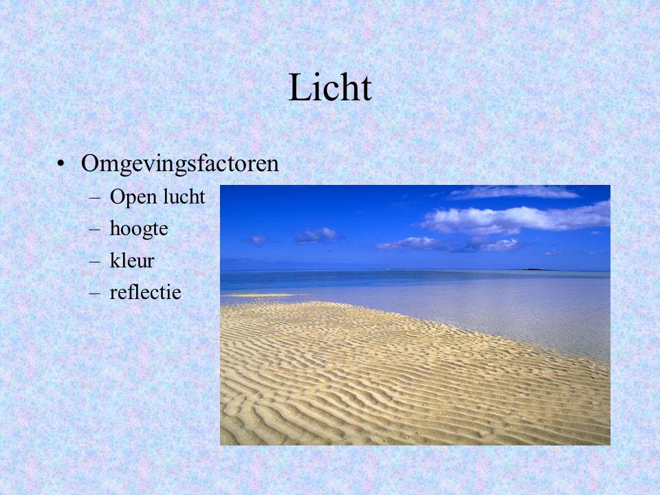 Licht Omgevingsfactoren Open lucht hoogte kleur reflectie
