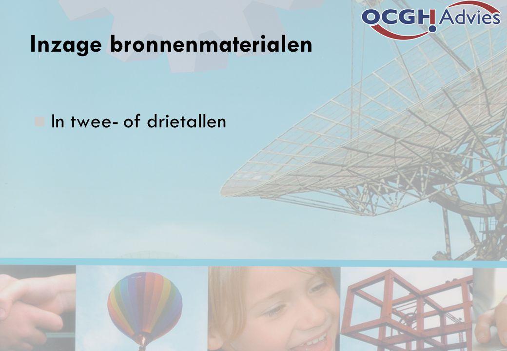 Inzage bronnenmaterialen