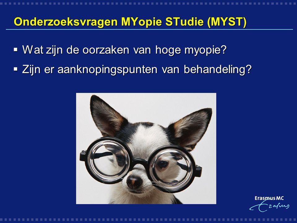 Onderzoeksvragen MYopie STudie (MYST)