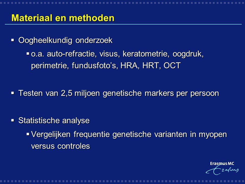 Materiaal en methoden Oogheelkundig onderzoek