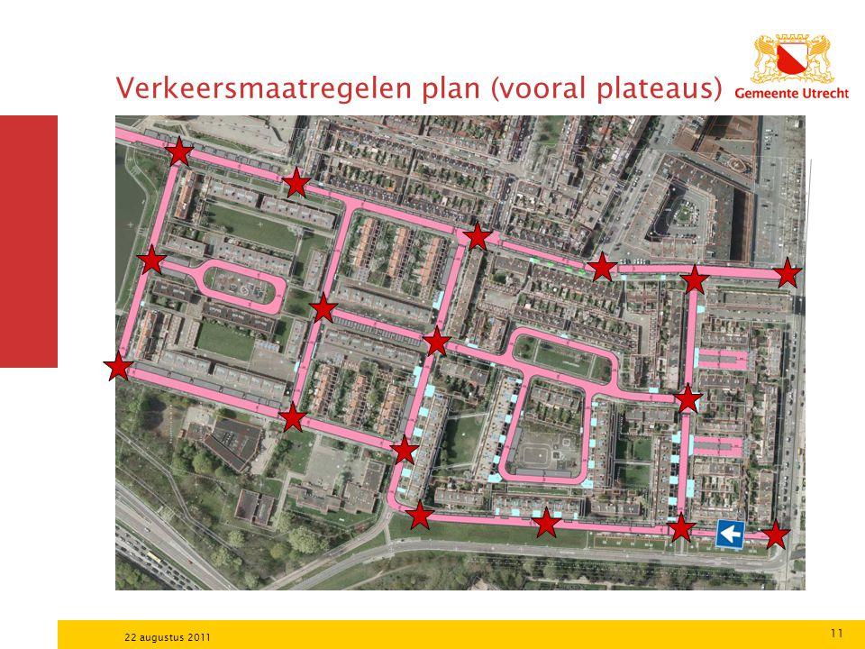 Verkeersmaatregelen plan (vooral plateaus)