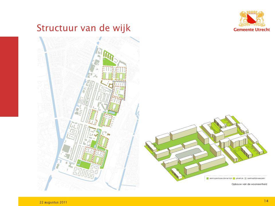 Structuur van de wijk 22 augustus 2011