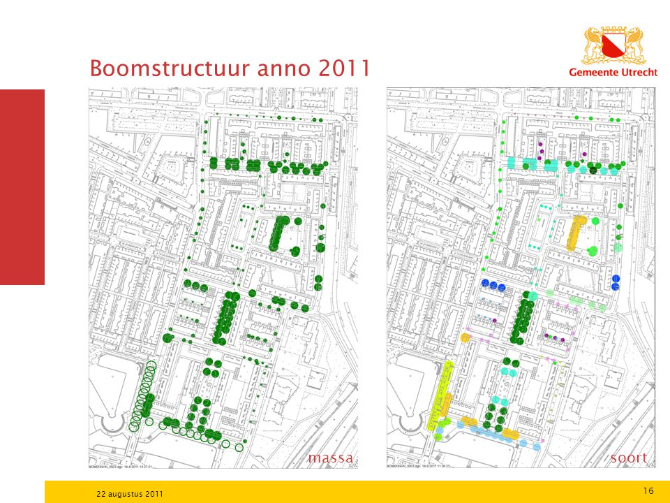 Boomstructuur anno 2011 massa soort 22 augustus 2011