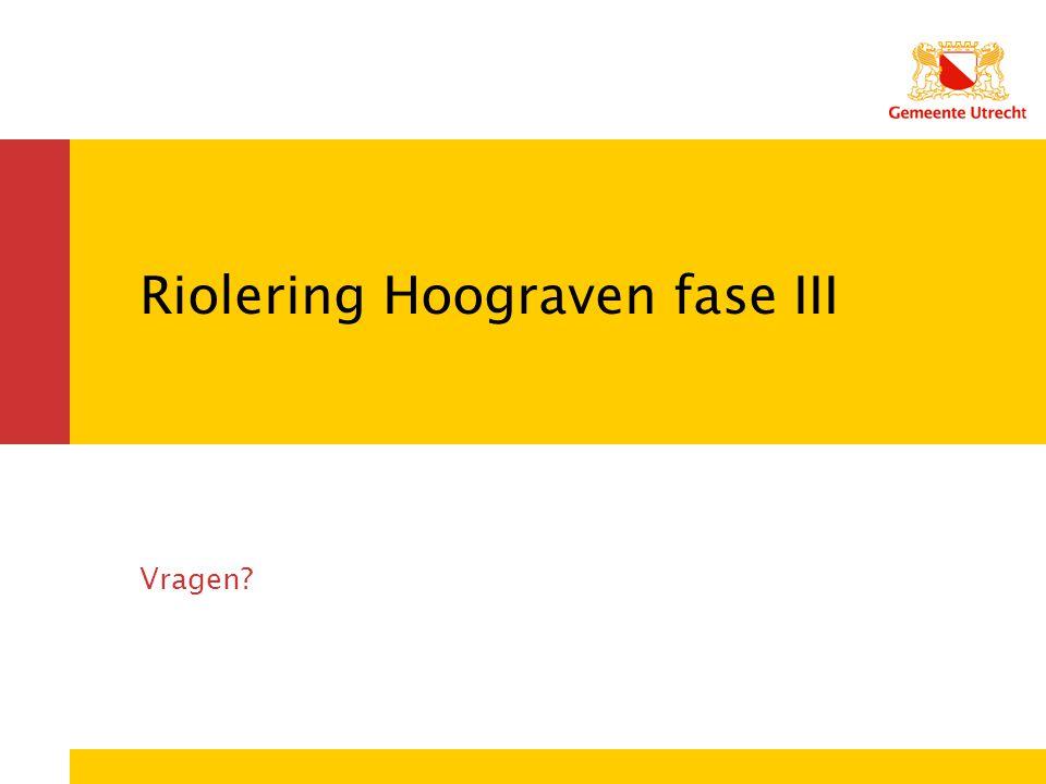 Riolering Hoograven fase III