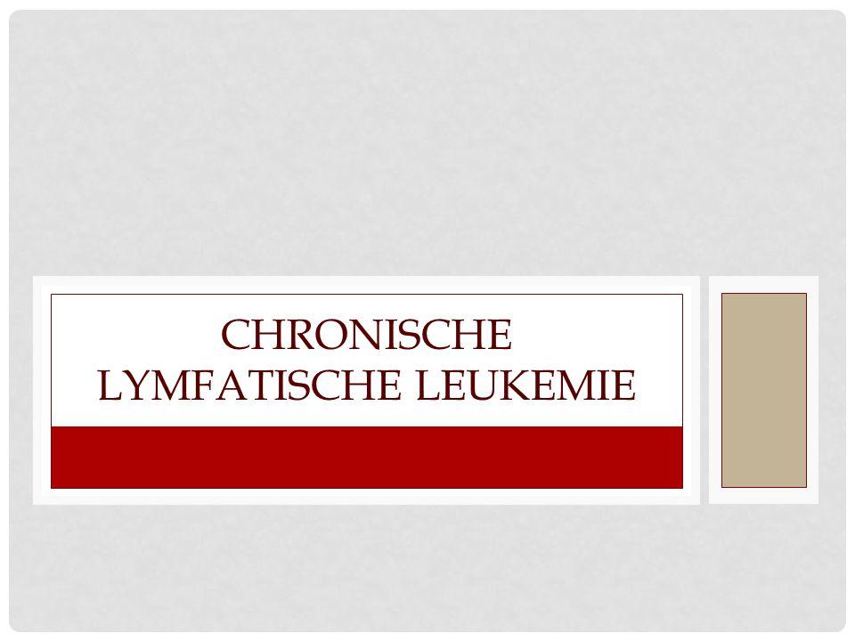 Chronische lymfatische leukemie