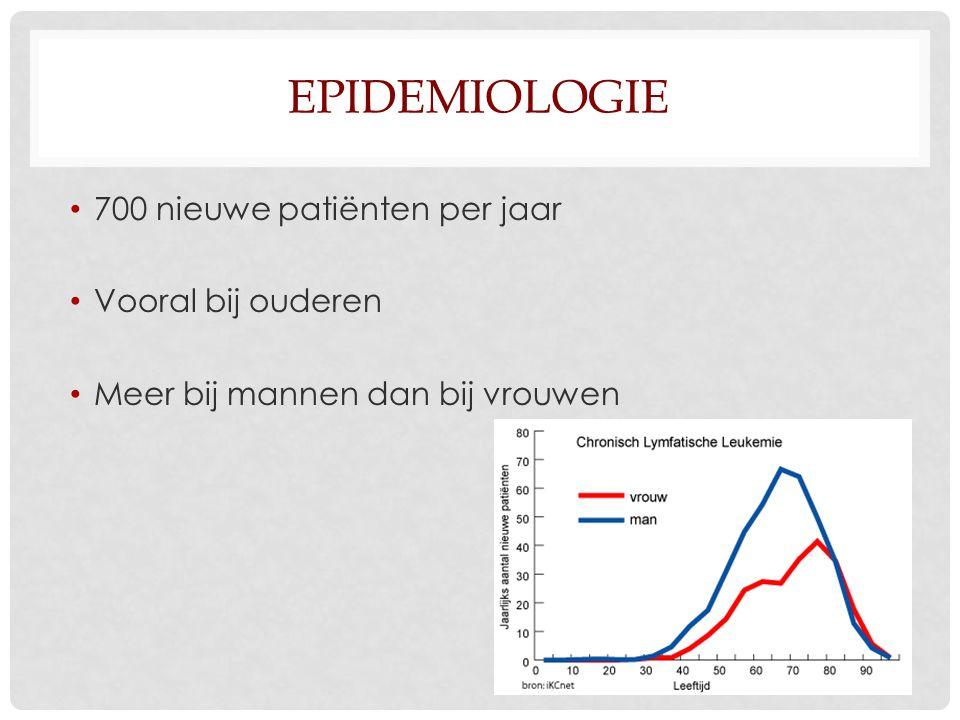 Epidemiologie 700 nieuwe patiënten per jaar Vooral bij ouderen