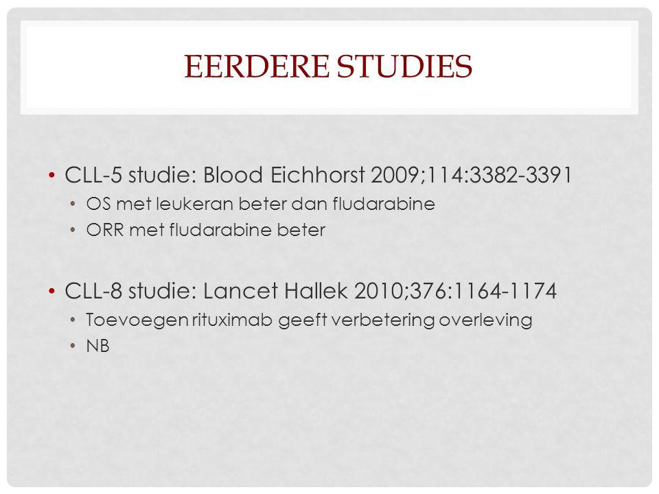 Eerdere studies CLL-5 studie: Blood Eichhorst 2009;114:3382-3391