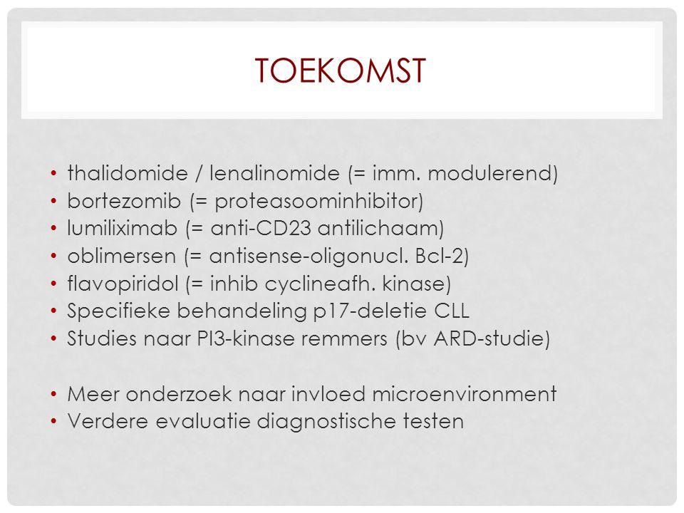 Toekomst thalidomide / lenalinomide (= imm. modulerend)