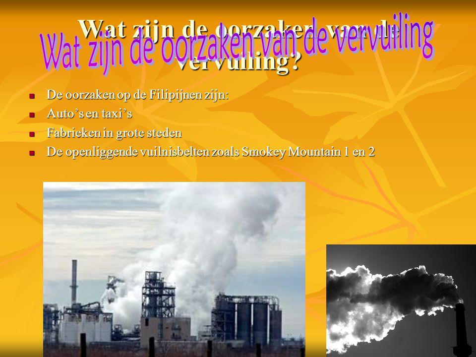 Wat zijn de oorzaken van de vervuiling