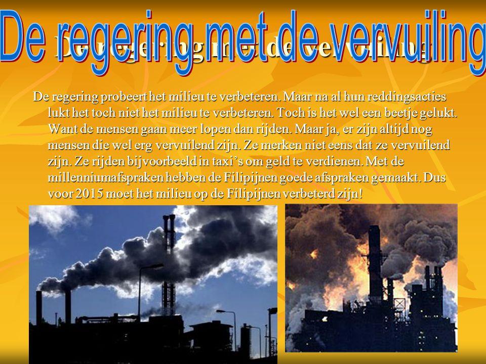 De regering met de vervuiling