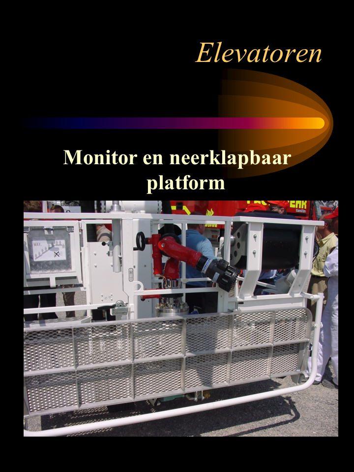 Monitor en neerklapbaar platform