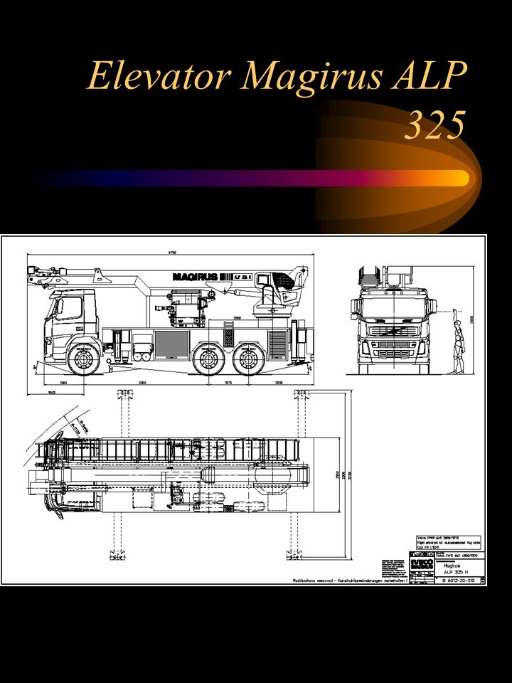 Elevator Magirus ALP 325